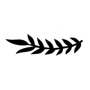 Schablone Glitzertattoo Blätter