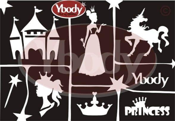 Schablonen Set A5 Prinzessin