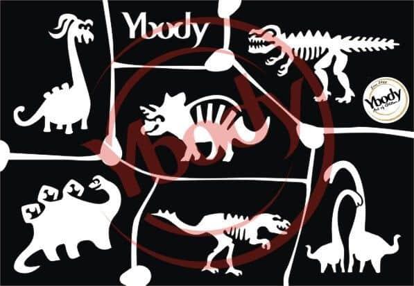 Schablonen Set A5 Dino