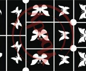 Schablonen Set Schmetterlinge