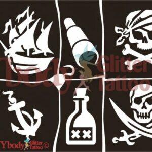 Schablonen Set A5 Piraten