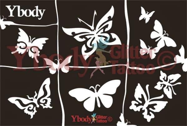 Schablonen Set A5 Schmetterlinge