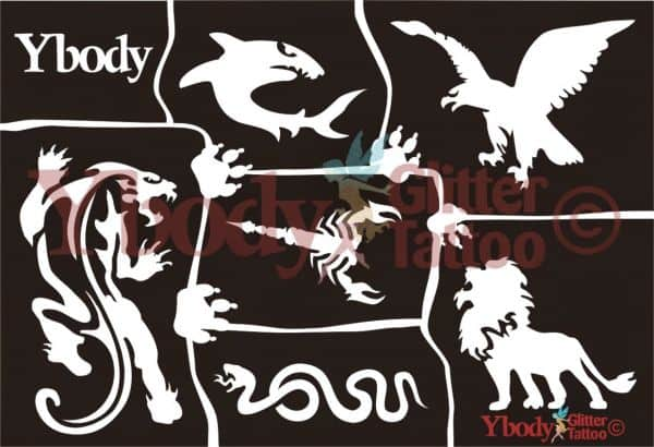 Schablonen Set A5 Wilde Tiere
